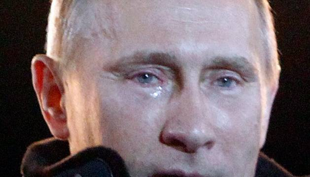 Putin, llorando