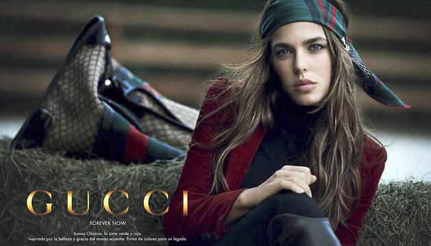 Imagen cedida por Gucci de Carlota Casiraghi que durante los dos próximos años será la imagen de esta firma y protagonizará las nuevas campañas publicitarias