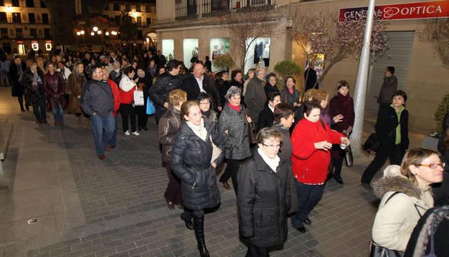 Manifestación por el Día de la Mujer en Tudela, en 2011