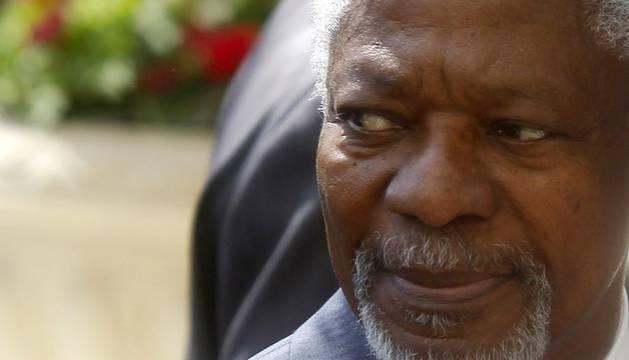 El enviado de la ONU y la Liga Árabe para Siria, Kofi Annan