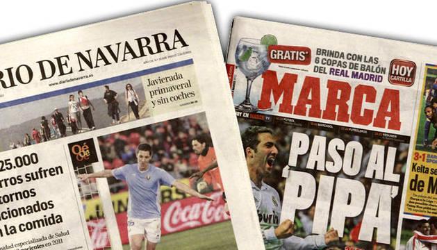 Cabeceras de Diario de Navarra y Marca