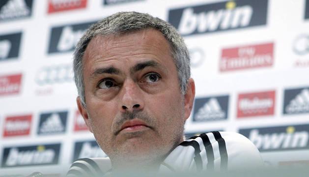 Mourinho, en rueda de prensa tras el entrenamiento