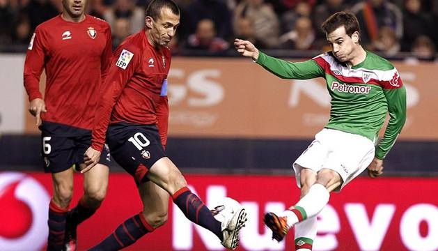 Imagen del partido entre Osasuna y Athletic que los rojillos han ganado por 2-1.