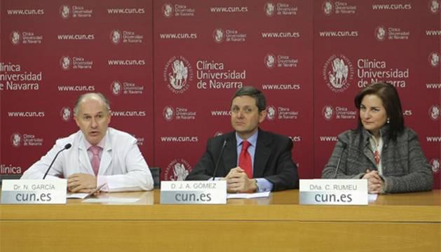 Nicolás García, José Andrés Gómez Cantero y Carmen Rumeu