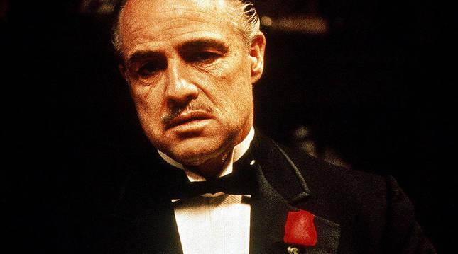 Marlon Brando escena de la película El Padrino