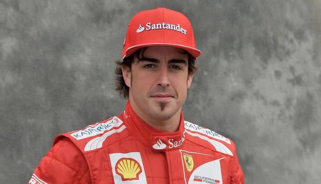 El español Fernando Alonso (Ferrari), doble campeón del mundo de Fórmula Uno
