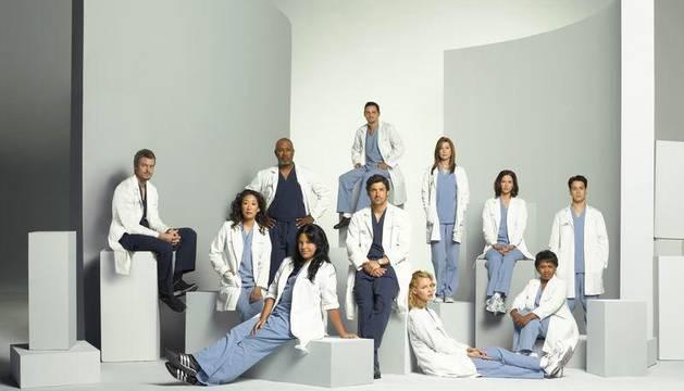 Varios de los protagonistas de Anatomía de Grey