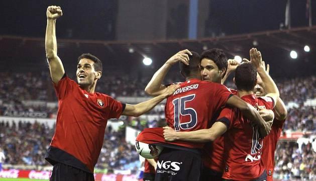 Imágen del partido entre Zaragoza y Osasuna jugado en la Romareda