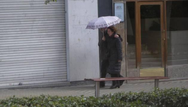 Lluvias débiles, este domingo, en Pamplona