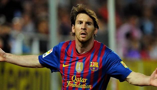 Messi celebra su gol ante el Sevilla del pasado sábado