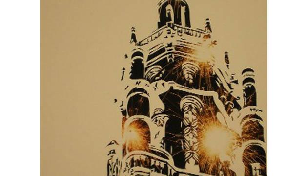 Cartel oficial de las fiestas patronales de Los Arcos de 2011.
