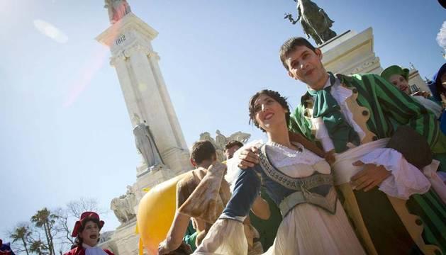 Imagen del espectáculo organizado en Cádiz por