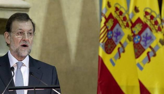 Mariano Rajoy, durante la ceremonia del bicentenario de la Pepa