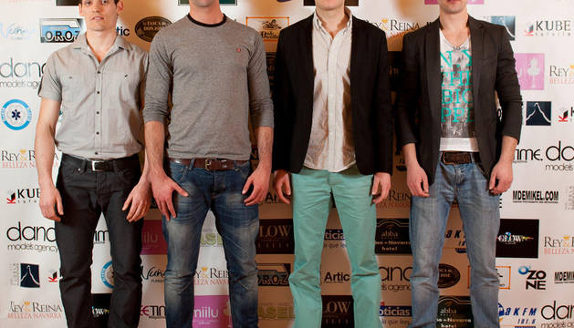 De izquierda a derecha: Abel Latasa, Mikel Arce, Javier Alvero, y Alvaro Gonzalez