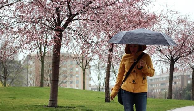 Después de meses de sequía, por fin la lluvia se presenta en Navarra.