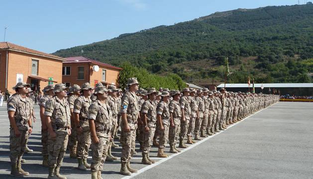 Acto de despedida del regimiento de cazadores de montaña América 66, en agosto de 2011.