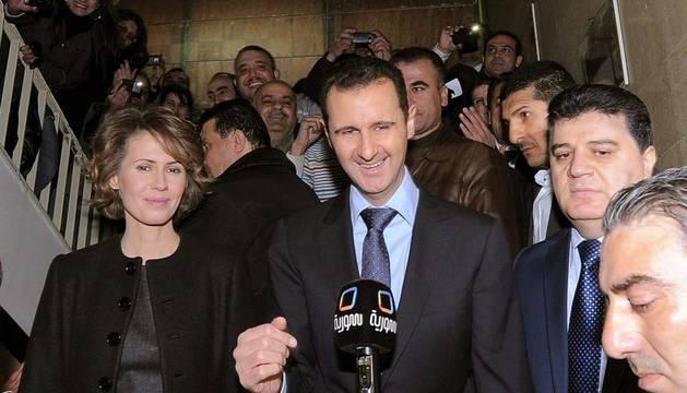 El presidente sirio y su mujer