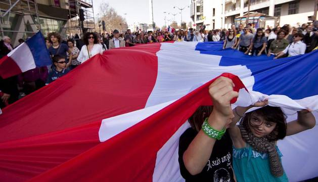 Imagen de la manifestación de París
