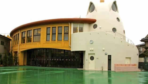 Imagen de la primera guardería japonesa inspirada en el diseño del arquitecto modernista español Antoni Gaudí