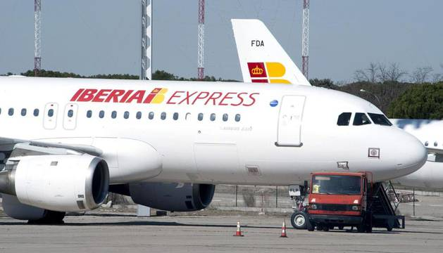 Uno de los aviones de la nueva aerolínea de bajo coste de Iberia