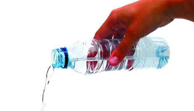 Un botellín de agua
