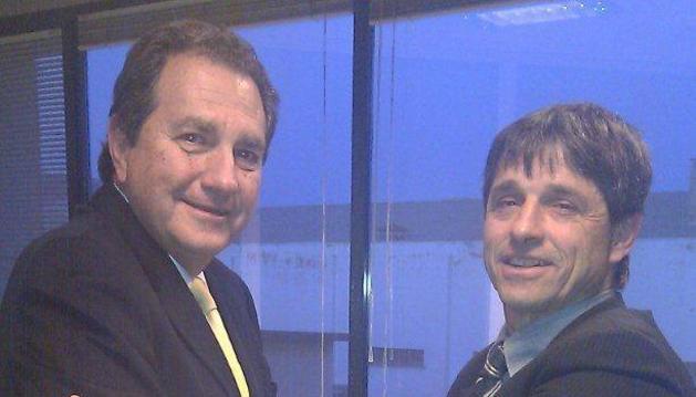 Jordi Torrent, presidente de Disano S.A., y José Antonio Arregui, presidente de Triman Navarra