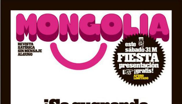 Pantallazo de la portada del primer número de la revista satírica Mongolia