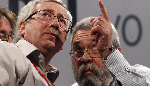 Toxo y Méndez, tras la manifestación de Madrid