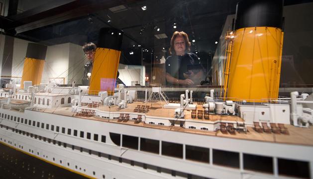 Miniatura del Titanic expuesta en el centro interactivo de  Belfast.