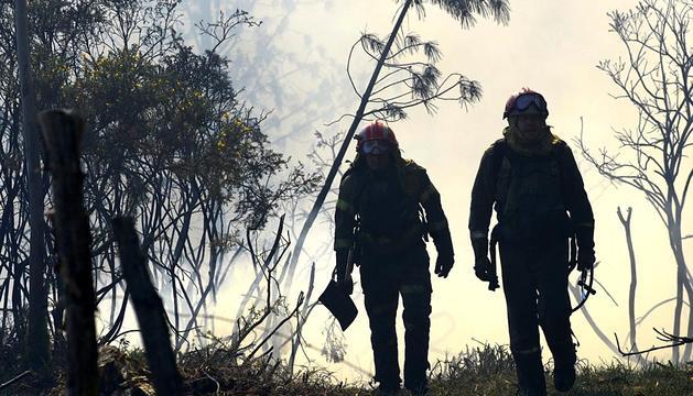 Imágenes del grave incendio en el parque natural de As Fragas en A Coruña