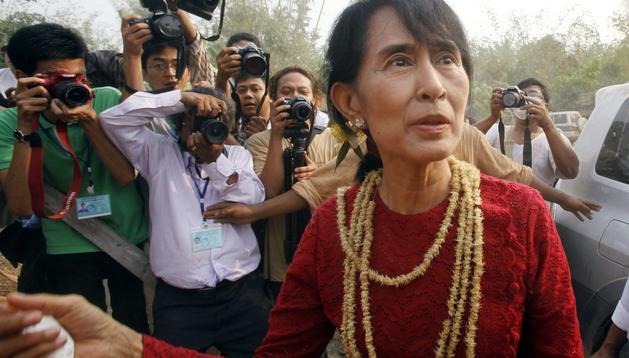 La líder del movimiento democrático de Birmania y premio Nobel de la Paz, Aung San Suu Kyi