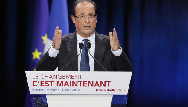 El candidato del Partido Socialista a la presidencia en Francia, Francois Hollande