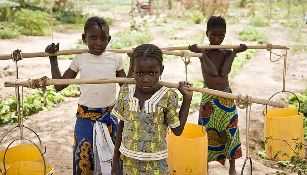 Varios niños del Sahel