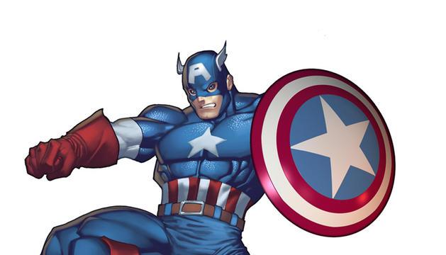 Dibujo del personaje de cómic Capitán América
