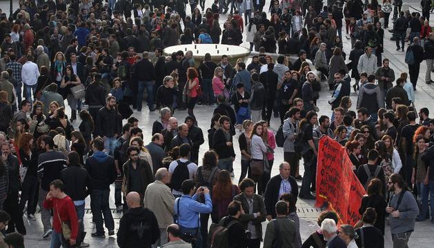 Protesta en Grecia, tras el suicidio de un jubilado