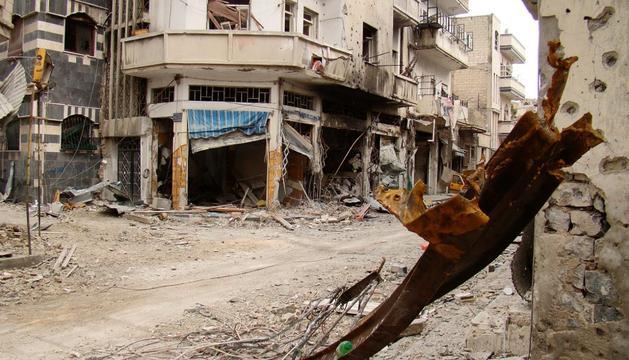 Vista de la ciudad siria de Homs