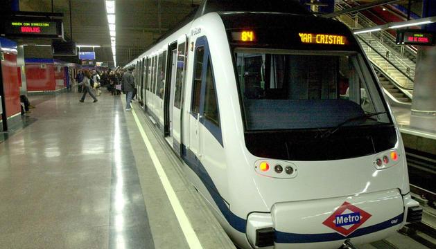 Imagen de la línea 8 del Metro de Madrid.