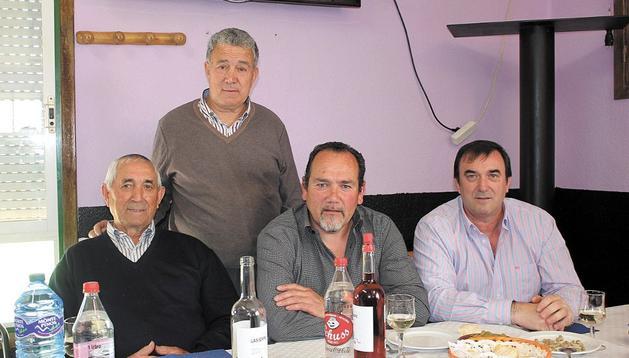 Eusebio Gómez, Enrique Rincón, Pedro Fernández, y Juan Carlos Gómez