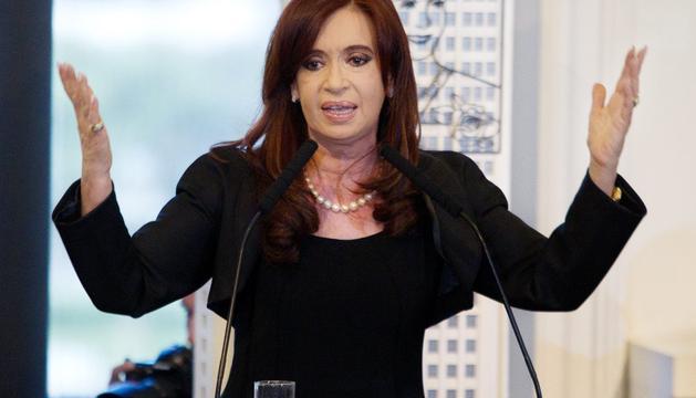 La presidenta argentina, Cristina Fernández, declaró este lunes de