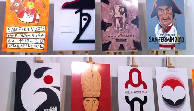 Los 8 carteles finalistas para San Fermín 2012