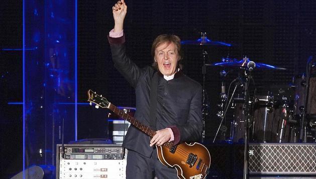 El exbeatle Paul McCartney, en el concierto que ofreció en Bogotá