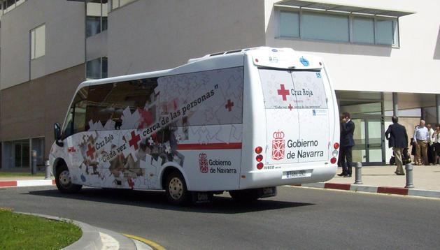 Imagen de un autobús interhospitalario