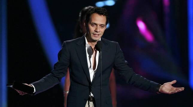 El cantante Marc Anthony durante la entrega de premios