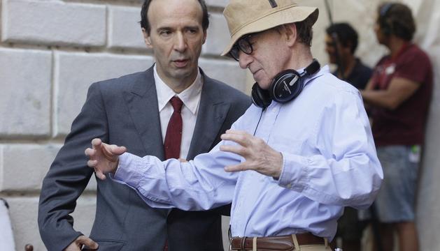 Woody  Allen y Roberto Benigni en 'A Roma con amor'