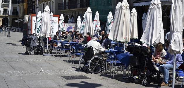 Imágenes del tiempo en Pamplona este martes 1 de Mayo