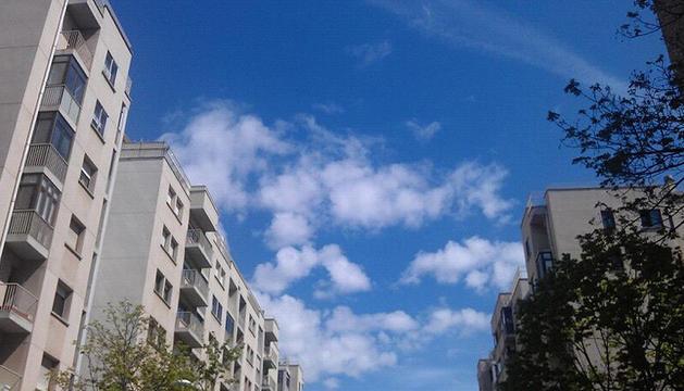 Imagen del buen tiempo de este martes en Pamplona