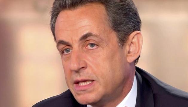 Sarkozy, durante el debate televisado de este miércoles