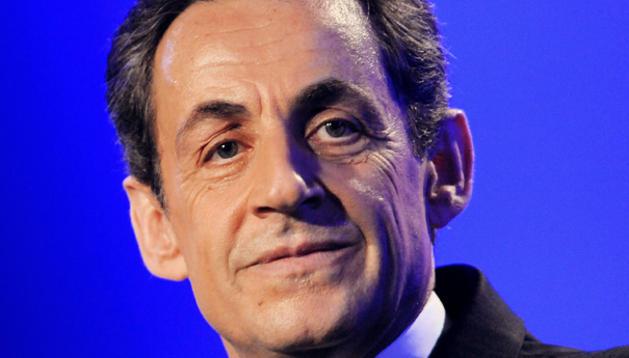 Sarkozy en un mitin en Les Sables-d'Olonne.