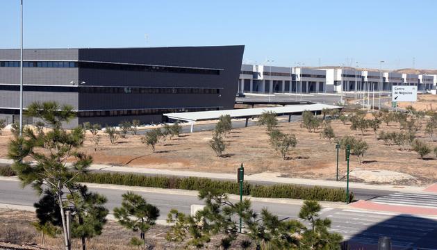 Imagen de la Ciudad Agroalimentaria de Tudela, con el Centro de Negocios a la izquierda