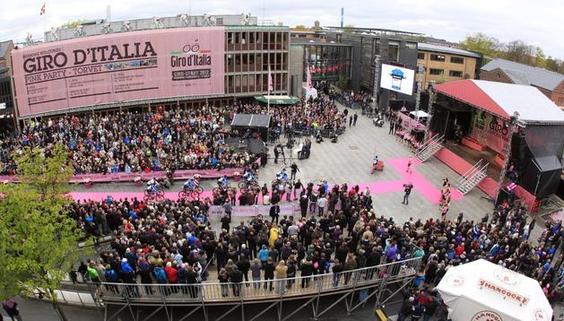Salida del Giro en Herning